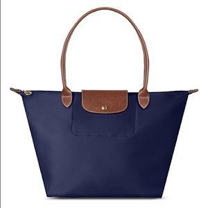 Navy blue longchamp style tote purse!